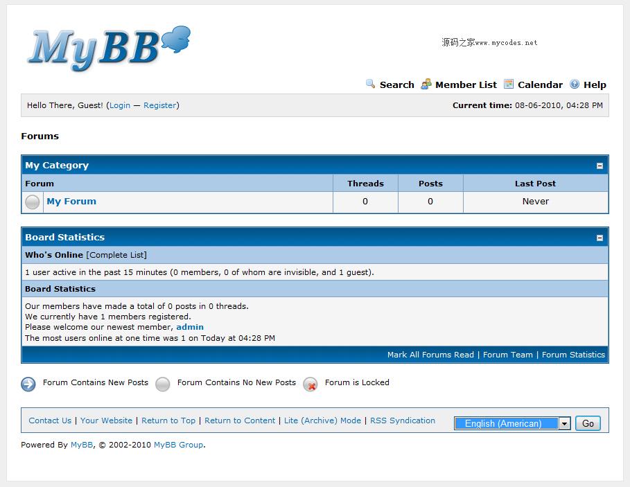 MyBB 1.8.14 免费论坛php源码