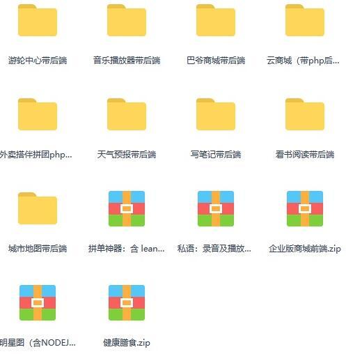 微信小程序源码包括后台完整版分享