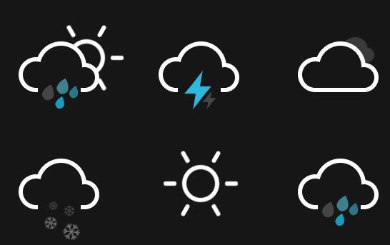 一个漂亮的CSS3天气预报动画图标免费源代码